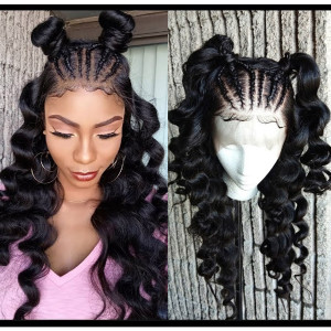 Elva Hair 150 Density Pre Plucked Brazilian Loose Wave Silk To Lace Front Wig (w97)