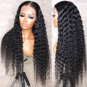Elva Hair 130 density 13X4 Pre Plucked Lace Front Human Hair Wigs Brazilian Remy Hair Wig (028)
