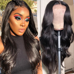 Elva Hair 150 Density Brazilian Body Wave Full Lace Human Hair Wig Pre Plucked With Baby Hair(046)
