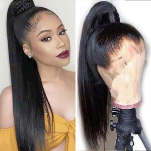 Elva Hair Full Lace Wigs straight Hair 150% Density Brazilian Remy Hair (Y102)