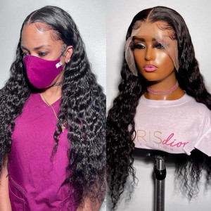 Undetectable Invisible HD Lace Glueless 13x6 Frontal Wigs Virgin Human Hair Pre Plucked (w530)