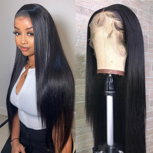 Elva Hair 13x6 Lace Front Human Hair Wigs Straight Brazilian Hair 150% Density (Y62)