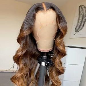 Glueless 13x6 Lace Wigs Brazilian Body Wave Virgin Human Hair Pre Plucked (w416)
