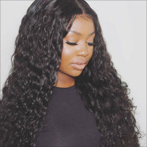 Elva Hair 150% Density Water Wave Brazilian Hair 13x6 Lace Front Human Hair Wigs (Y52)