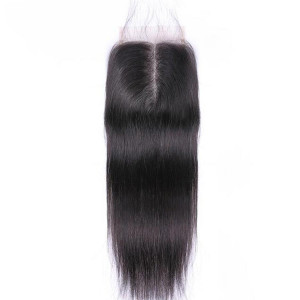 Brazilian Straight Closure 4x4 & 5x5 HD Swiss Lace Closure 100% Human Hair Closure Middle Free Three Part Top Closures With Baby Hair(w722)