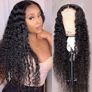 Elva Hair 180% Density Brazilian Hair Curly 360 Lace Frontal Wigs (W274)
