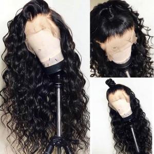 Elva Hair 150 Density Loose Wave 360 Lace Frontal Wig Brazilian Human Hair Wigs (w75)