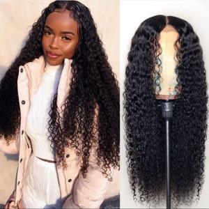 Elva Hair 180% Density Brazilian Hair Curly 360 Lace Frontal Wigs (Y113)