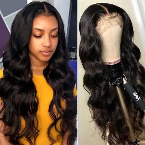 Elva Hair Full Lace Human Hair Wig 150% Density Body Wave Brazilian Hair (Y50)