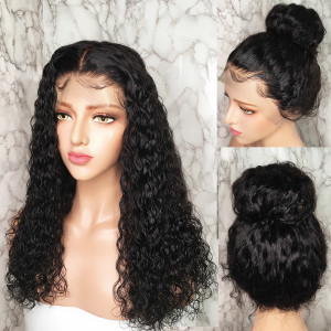 Super Soft and Shiny curls & Lace Melted So Perfectly! Virgin Human Hair Water Wave 13x6 Lace Front Wig Pre Plucked (w513)