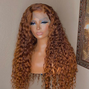 13x6 Lace Wigs Water Wave Indian Virgin Human Hair Pre Plucked Hairline With Baby Hair (w737)