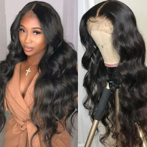 Elva Hair 180% Density Brazilian Hair Wave 360 Lace Frontal Wigs (Y118)