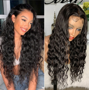 Elva Hair 360 Lace Frontal Wigs Curly 250% Density Remy Hair (Y105)