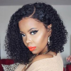 Elva Hair 180 Density Pre Plucked Brazilian Curly 360 Lace Frontal Wig  (w78)
