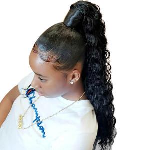 Elva Hair 2019 New 150 Density Brazilian Deep Wave 370 Lace Wigs (W162)
