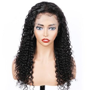 Elva Hair 2019 New 150 Density Brazilian Curly 370 Lace Wigs Pre Plucked (w142)