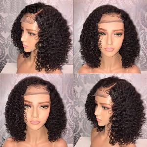 Elva Hair 2019 New 150 Density Brazilian 370 Lace Human Hair Bob Wigs Pre Plucked  (w145)