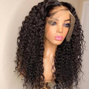 13x6 Lace Wigs Curly Virgin Human Hair Pre Plucked Hairline With Baby Hair (w739)