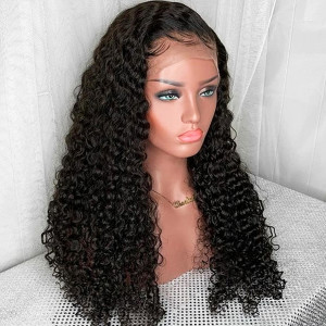 Elva Hair 13x6 Lace Front Human Hair Wig Curly Brazilian Hair 150% Density (y39)