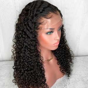 Elva Hair 180 Density Brazilian 360 Lace Frontal Wig Pre Plucked With Baby Hair (w88)