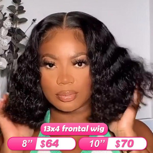 Flash Sale 13x4 Frontal Wigs Wave Human Hair Bob Wigs (w705)