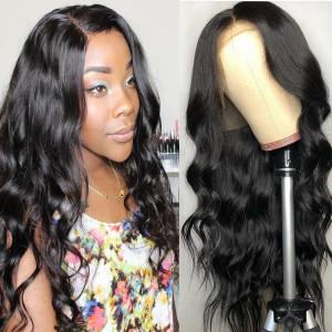Elva Hair 150% Density Silk Base Brazilian Wave Hair 13x6 Lace Front Wigs (Y135)