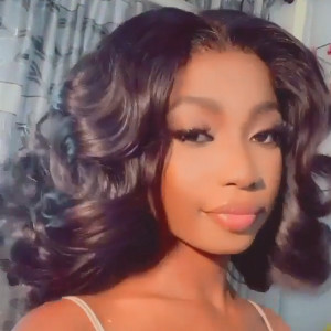 13x6 Lace Wigs Bouncy Wave Virgin Human Hair Bob Wigs Pre Plucked Hairline With Baby Hair (w734)
