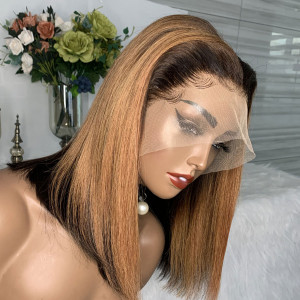 Yonce Wig 130 Density Omber 13x6 Brazilian Straight Lace Front Human Hair Wigs Pre Plucked(w397)