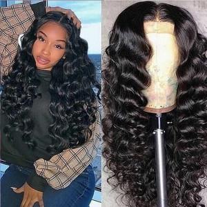 Elva Hair 150 Density Pre Plucked Brazilian Remy Hair Loose Wave Full Lace Wigs (w71)