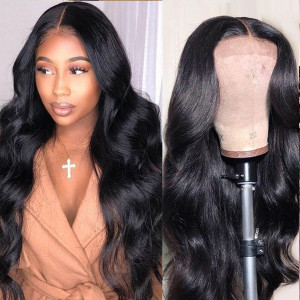 Elva Hair 130 Density 13X6 Lace Front Human Hair Wigs Pre Plucked Brazilian Body Wave (w133)