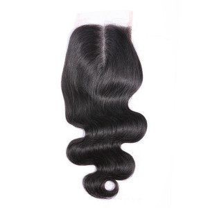 Brazilian Body Wave Closure 4x4 & 5x5 HD Swiss Lace Closure 100% Human Hair Closure Middle Free Three Part Top Closures With Baby Hair(w721)