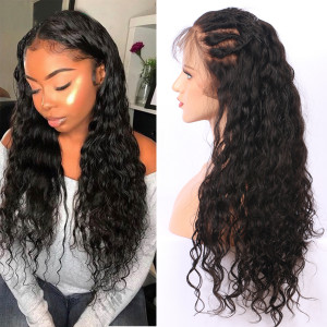 26-34inches Elva Hair 150 Density 13x6 Brazilian Natural Wave Lace Front Wigs Pre Plucked (w248)