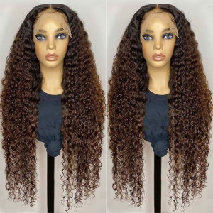 Yonce Wig Ombre Hair 180 Density 13x6 Lace Wigs  Brazilian Remy Hair Curly Lace Front Human Hair Wigs Pre Plucked Hairline With Baby Hair (w547)