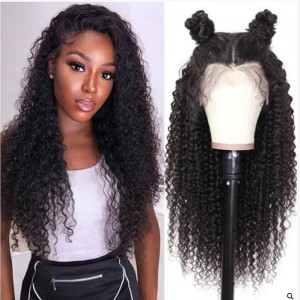 Elva Hair 2019 New 150 Density Brazilian Curly 370 Lace Human Hair Wigs (w302)