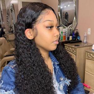 Elva Hair 2019 New Brazilian Water Wave 370 Lace Human Hair Wigs 150 Density (W180)