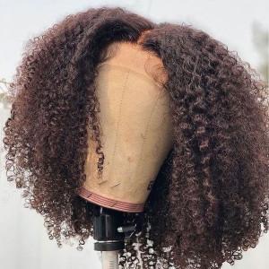 13x6x3.5 Closure Wigs Brazilian Curly Lace Front Human Hair Bob Wigs 150 Density Hair(w620)