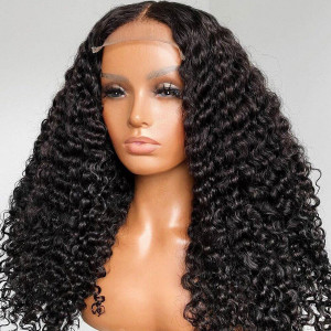 13x6 Lace Wigs Curly Virgin Human Hair Pre Plucked Hairline With Baby Hair (w633)