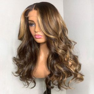 Yonce Wig Ombre150 Density 13x6 Brazilian Loose Wave Lace Front Human Hair Wigs Pre Plucked(w482)