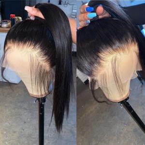 Elva Hair 180% Density Brazilian Hair Straight 360 Lace Frontal Wigs (w290)
