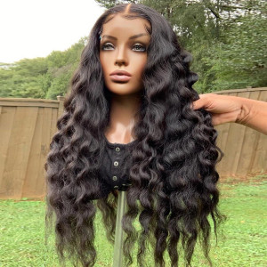 The Hair Is So Soft And Manageable! Want To Slayyyy? Buy Now, Pay Later! Virgin Human Hair 13x6 Lace Front Wigs Pre Plucked  (w782)