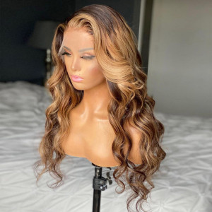 Yonce Wig Ombre 150 Density 13x6 Brazilian Wave Lace Front Human Hair Wigs Pre Plucked(w559)