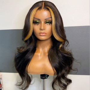 12A Grade Virgin Human Hair Invisible Transparent Lace Body Wave 13x6 Lace Front Wigs Pre Plucked (w743)