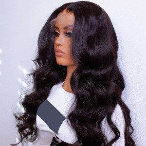 Glueless 13x6 Lace Wigs Brazilian Body Wave Virgin Human Hair Pre Plucked Hairline With Baby Hair (w429)