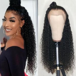 Elva Hair 180% Density Curly Hair 360 Lace Frontal Wigs (Y143)