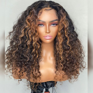 Is This Your Favorate Wig? Breathable Lace! Virgin Human Hair Water Wave 13x6 Lace Front Wigs Pre Plucked (w750)