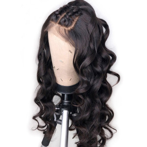 Elva Hair 150 Density Pre Plucked Brazilian Remy Hair Loose Wave Full Lace Wigs Pre Plucked (w372)