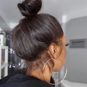 Elva Hair Full Lace Human Hair Wig Straight Brazilian Hair Pre Plucked 130% Density (w291)