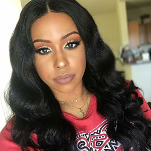 Elva Hair 150 Density Brazilian Body Wave Silk Base Lace Front Wig With Baby Hair (w99)