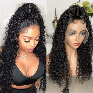 Elva Hair 150 Density 13x6 Brazilian Deep Curly Lace Front Wigs Pre Plucked (w513)