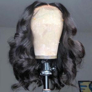 13x4 Lace Wigs Wet And Wavy Brazilian Virgin Human Hair Wigs Pre Plucked With Baby Hair (w681)